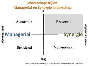 Leiderschapsstijlen, leiderschapsdomeinen, synergie, presentie